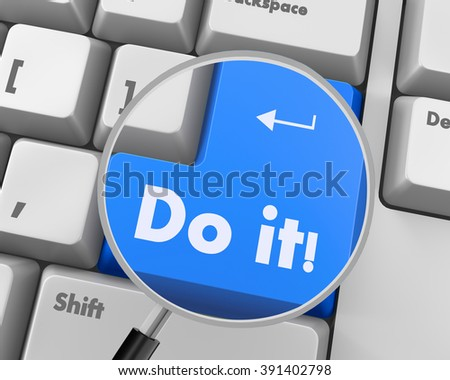 Text do it button 3d render