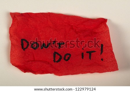 Text do not do it on red background - stock photo
