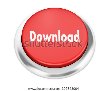 Text download button 3d render - stock photo