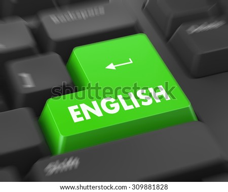 Text english button 3d render - stock photo