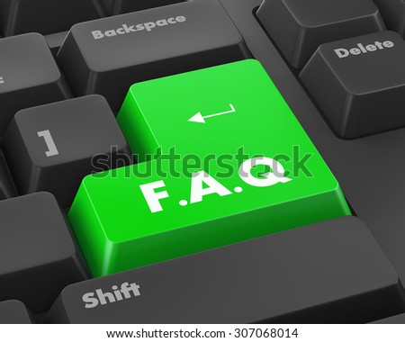 Text faq button 3d render