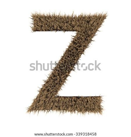 text fur alphabet - stock photo
