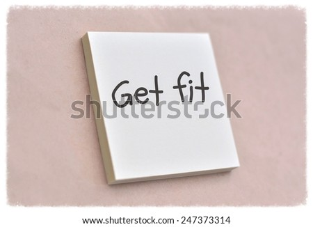 Text get fit on the short note texture background - stock photo