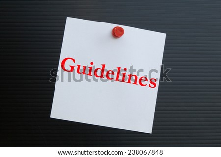 Text guidelines on note paper  - stock photo