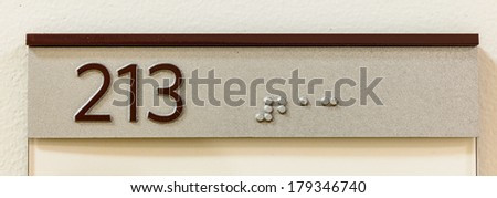 text in braille language - stock photo
