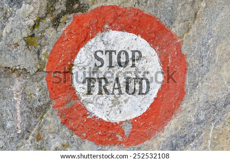 Text message as appeal to combat fraud - stock photo