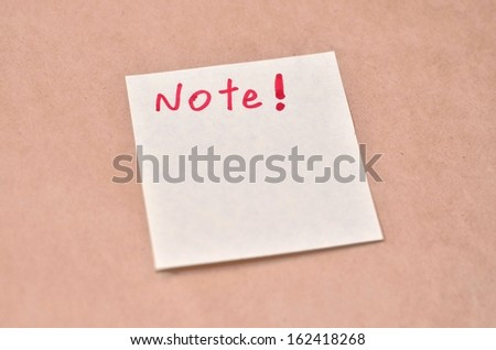 Text Note on the short note texture background