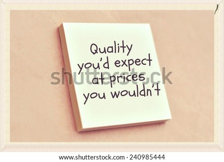 Text quality you'd expect at prices you wouldn't on the short note texture background - stock photo