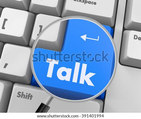 Text talk button 3d render