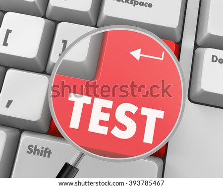 Text test button 3d render