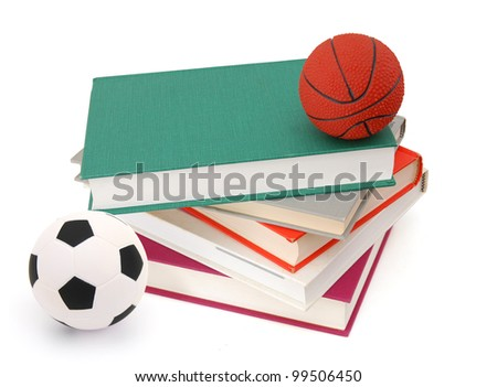 Textbooks and sports - stock photo
