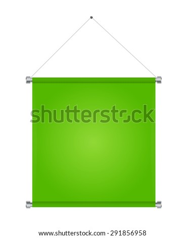 Textile Banners with Copy Space.  Illustration.