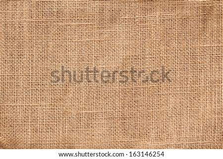 Textile burlap horizontal background with natural texture - stock photo