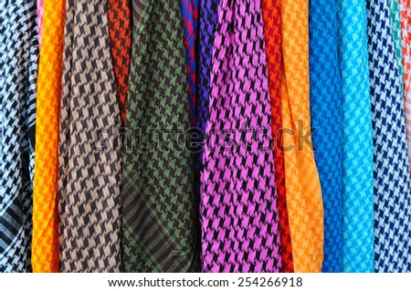 Textile fabric texture retail - stock photo