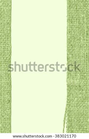 Textile frame, fabric industry, khaki canvas, clothing material retro-styled background - stock photo