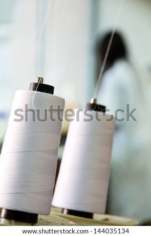Textile industry - stock photo