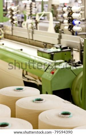 textile machine - stock photo