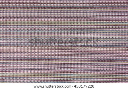 textile place mat with stripes