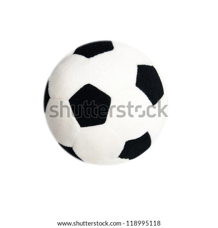 textile soccer ball isolated on a white background - stock photo