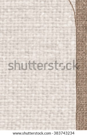 Textile tablecloth, fabric patch, beige canvas, cotton material natural background - stock photo