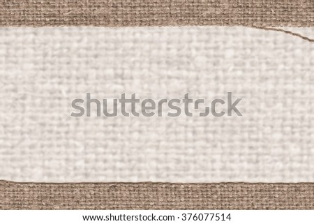 Textile tarpaulin, fabric industry, camel canvas material braided background - stock photo
