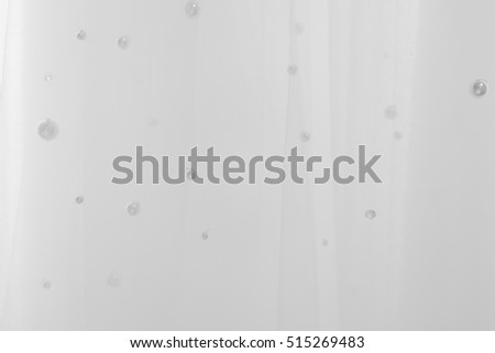 Textile wedding background with beads