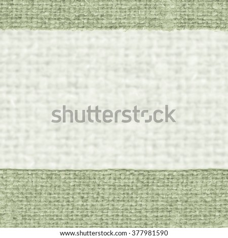 Textile weft, fabric decoration, green canvas, threaded material swatch background - stock photo