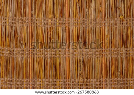 texture a bamboo with fabric weaving - stock photo