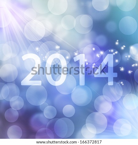 texture, abstract background is colorful bokeh light for happy new year day in 2014, christmas and other event
