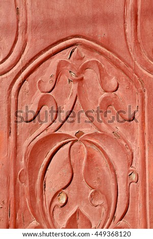 texture and abstract background line in oman old antique door
