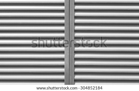 Texture and Background of White window slide shutter