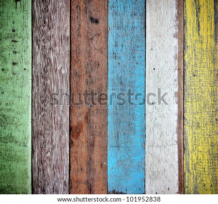 texture and detail of colorful wood background - stock photo