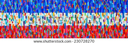 Texture, background and Colorful Image of an original Abstract Painting on Canvas.