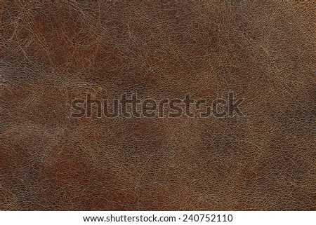 Texture background from closeup shoot of dark brown leather for your work - stock photo