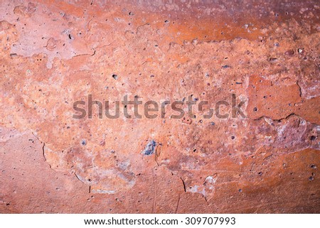 texture background of ancient pottery shard, ceramic, classic clay ,mainly used for flower pots