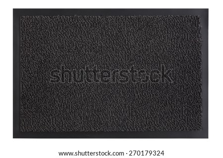 Texture background of the doormat with clipping path - stock photo