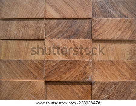 Texture, backgrounds. 3D panel from exotic wood, afrormosia. - stock photo