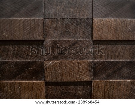 Texture, backgrounds. 3D panel from exotic wood, wenge. - stock photo