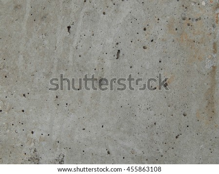 Texture building a concrete slab with a little rust on iron - stock photo