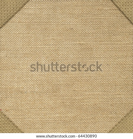 Texture canvas fabric with corners