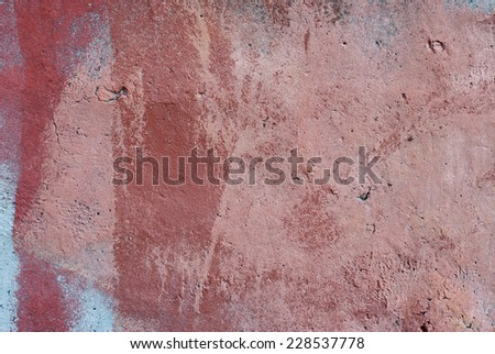 Texture cement plaster in a paint for a designer