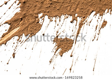 Texture clay moving in white background - stock photo