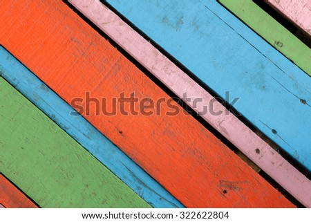 Texture colorful red,blue green,pink wood background.