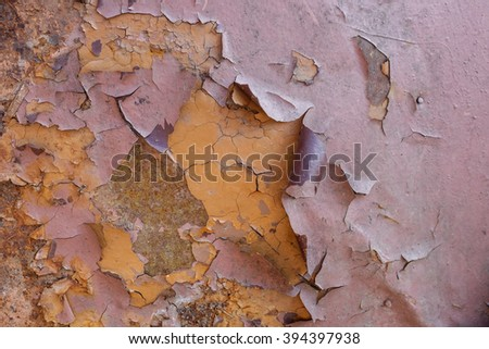 texture covered with cracked paint. Vintage wall texture background