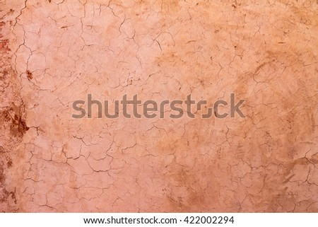 Texture cracked clay surface - stock photo