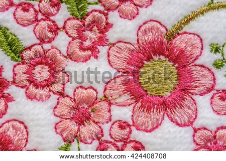 texture embroidery - stock photo