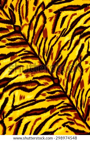 Texture fabric of tiger for background