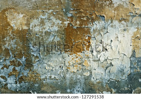 Texture from old rough grunge weathered  wall with cracks - stock photo