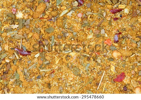 Texture from svanuri marili - pipular spice in Asian countries. - stock photo