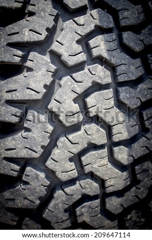 Texture is old car tires. - stock photo